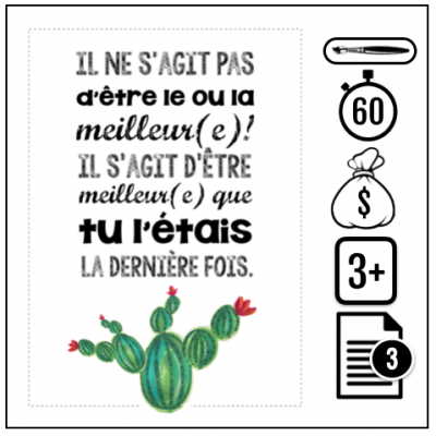 "Affiches cactus 400x400 - Affiches motivationnelles ""cactus"""