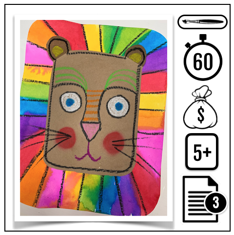Lion multicolore - Gratuit